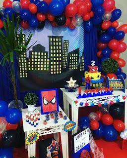 Super Ideas Para Fiestas De Cumpleaños Celebraciones Bodas Fiesta De Cumpleaños De Spiderman Fiesta De Spiderman Decoracion Fiesta De Superhéroes Para Niñas