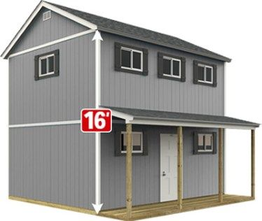 Home Depot Sundance Tr 1600 2 Story Farmhouse The New Classic Manor New Day Cabin Project Small H In 2020 Shed House Plans Shed To Tiny House Home Depot Tiny House