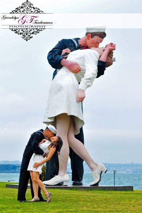 Kissing Sailor Statue at Tuna Harbor Park San Diego CA