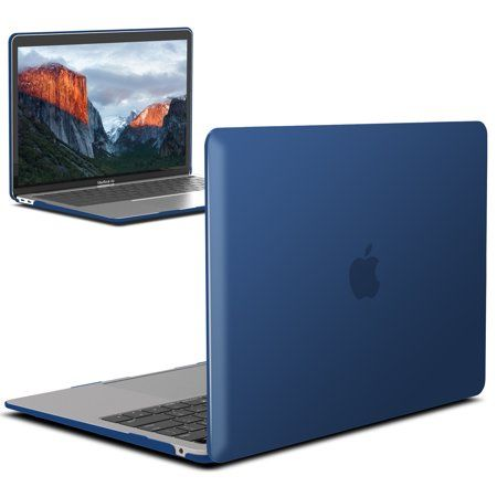 New Macbook Air 13 Inch Case A1932 2018 Release Ibenzer Soft Touch Hard Case Shell Cover For Apple Macbook Air 13 Retina With Touch Id Navy Blue In 2020 Macbook Air