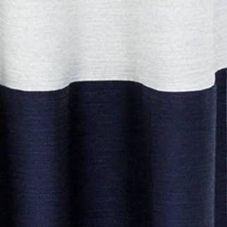 95 x50 blackout color block curtain