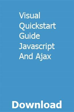 Visual Quickstart Guide Javascript And Ajax pdf download