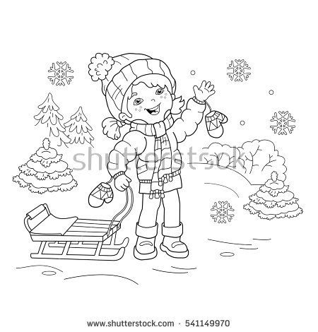 7500 Winter Cartoon Coloring Pages Download Free Images