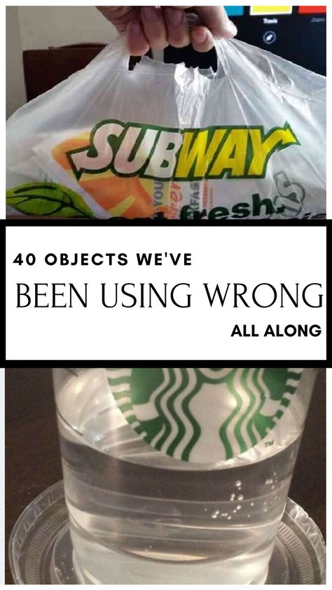 We've been using these everyday items wrong this entire time, but we're about that change that now.