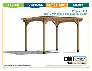 Ozco Project 297 12 X16 Double Beam Patio Pergola Pergola Pool House Shed Cheap Pergola