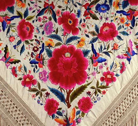 Beautifully embroidered shawl