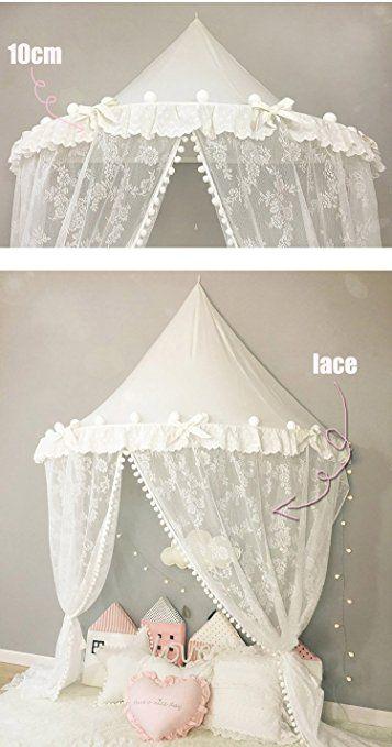Tente pour lit Enfant Tipi Ciel de Lit avec Moustiquaire rideaux lit ...