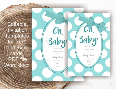 party Blue Baby Shower Invites -...
