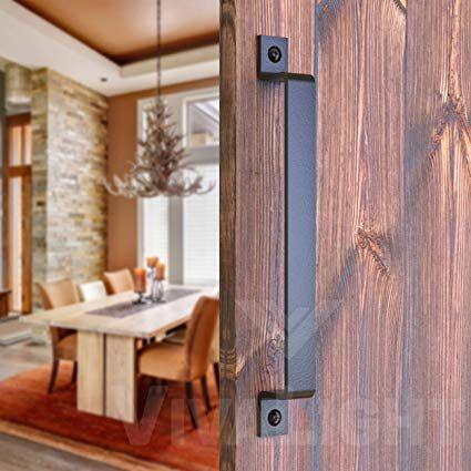 Amazon Com Barn Door Handle Black 12 Inch Solid Steel Gate Handle Pull For Sliding Barn Doors Gates Garages Sheds Ga Door Handles Barn Door Handles Barn Door