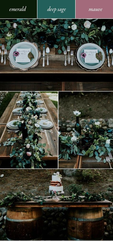 Get Inspired By These Moody Wedding Color Palettes | Junebug Weddings - #color #inspired #junebug #moody #palettes #these #Wedding - #BestHomeDecorColorPalettes