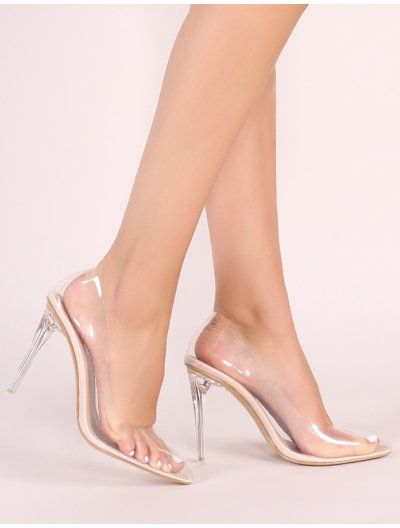 008566f9a96 Drank Clear Perspex Court Heels in Nude in 2019   Looks   Court ...