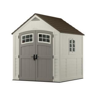 Rubbermaid Big Max 2 Ft 6 In X 4 Ft 3 In Large Vertical Resin Storage Shed 1887156 The Home Depot Storage Shed Outdoor Storage Sheds Shed Storage