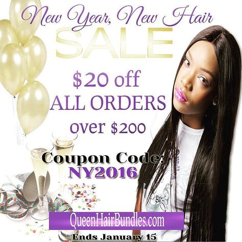 New Year New Hair  Shop quality and be crowned a Queen... $20off all orders over $200!! Coupon Code: NY2016  _________________________________ #virginhair#brazilianhair#peruvianhair#malaysianhair#bodywave#loosewave#hairstylist#morehouse#hairextensions#hbcu#famu#howarduniversity#spelman#clarkatlanta#Tuskegee#rhoa#bgc14#lhhatl#lhhh#brazilianvirginhair#scandal#miamihair#bbwla#empire#nychair#atlhair#lahair#houstonhair by queenhairbundles