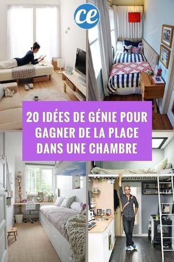 20 Idees De Genie Pour Gagner Facilement De La Place Dans Une Chambre Idee Rangement Chambre Amenagement Petite Chambre Idees Chambre