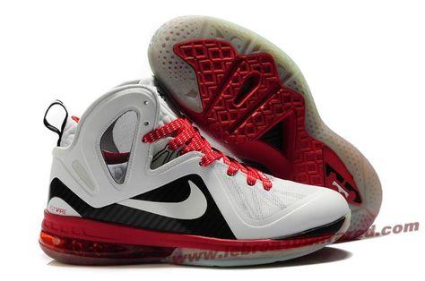 innovative design 04119 87ff7 New Nike Lebron 9 P.S. Elite White Black Red Galaxy
