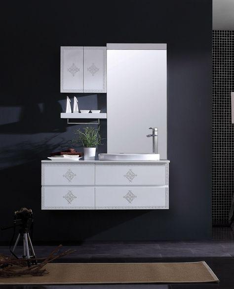 Find More Bathroom Sets Information About Ba 1085b Solid Wood Bathroom Cabinet Bathroom Mirror Wash Ba With Images Wood Bathroom Cabinets Wood Bathroom Bathroom Cabinets