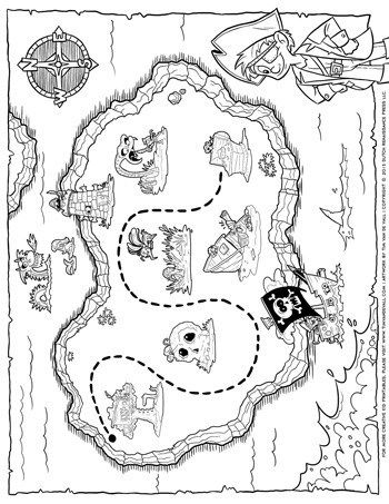 graphic relating to Treasure Map Printable known as Pirate Treasure Map - Tims Printables pirate map Pirate