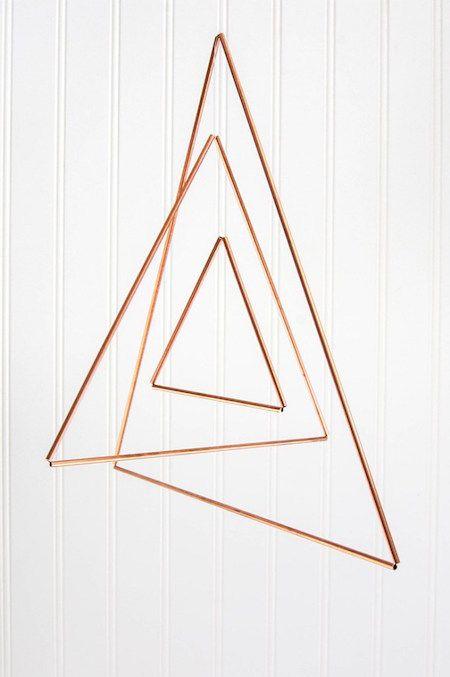 Make It! Copper Triangle Mobile