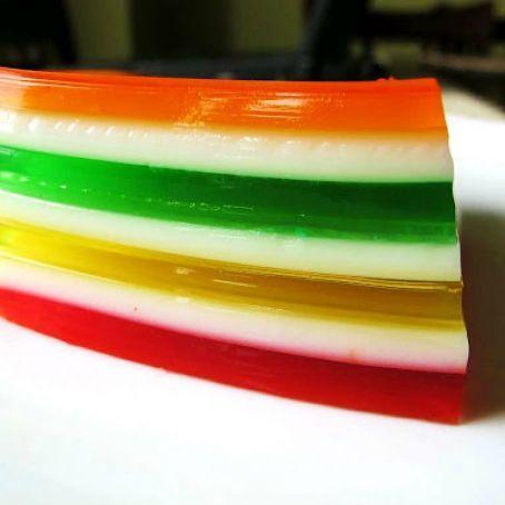 7 Layer Jello Mold Recipe Recipe In 2020 Layered Jello Layered Jello Recipe Jello Mold Recipes