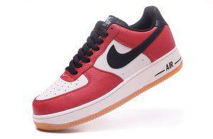En necesidad de Inspirar Salvación  Mens Nike Air Force 1 Low Chicago White Black Red 820266 600 Casual Shoes  Sneakers