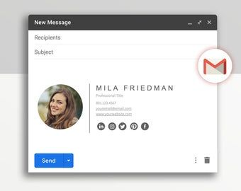 Email Signature For Gmail Outlook Signature Template Etsy In 2021 Email Signatures Email Signature Templates Email Signature Design