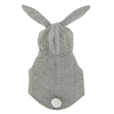 Top Paw Bunny Pet Hoodie With Ears Dog Sweaters Coats