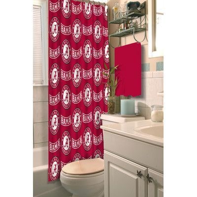 College Bathroom Decor Northwest Co Collegiate Alabama Shower Curtain College Bathroom Decor Complete Bedding Set Alabama Crimson Tide Alabama crimson tide bathroom decor