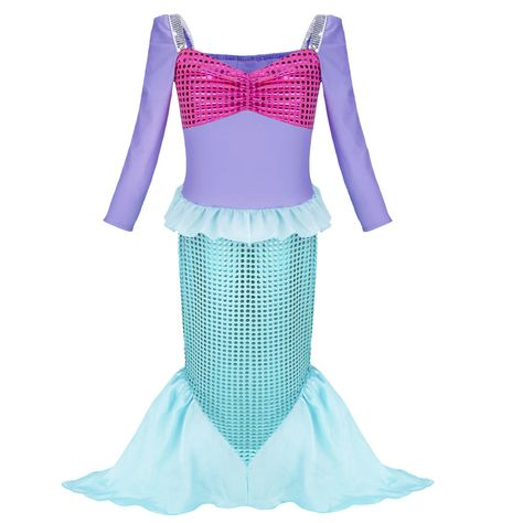 f8f882591 Details about Little Mermaid Sea Princess Girls Fancy Dress Up ...