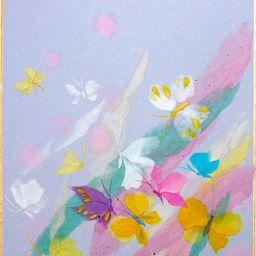 画像 和紙ちぎり絵教室で作成しました 蝶々 の記事より 和紙 絵 蝶々