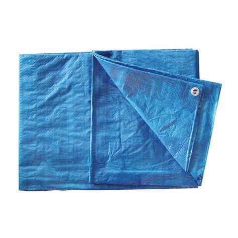 Bon Tool 16 Ft X 20 Ft Blue Poly Tarp Waterproof Tarp Blue Roof Covering