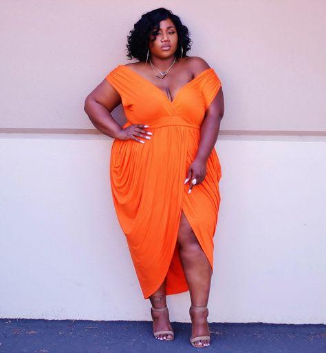 Plus Size Fashion for Women - Plus Size Orange Dress ...