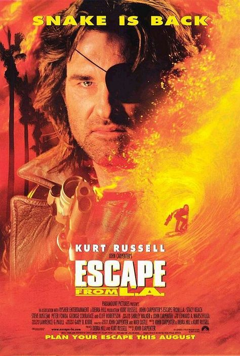 John Carpenter's Escape From LA... only good due to Kurt Russell ...campy fun