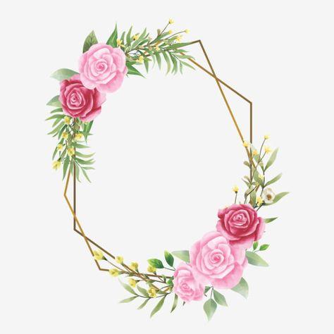 إطار دعوة زفاف مع ورود وأوراق بألوان مائية زهرة الإطار حفل زواج Png والمتجهات للتحميل مجانا Invitation Frames Pink Roses Wedding Copper Wedding Invitations