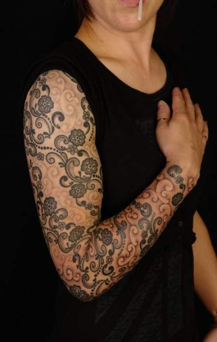 Tattoo Sleeve Women Filler 44 Best Ideas Tattoo Lace Sleeve Tattoos Lace Tattoo Tattoo Sleeve Filler
