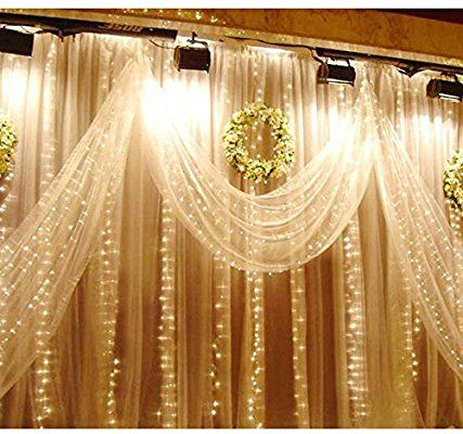 Meq 9 8x9 8 Feet 304 Led Curtain Lights With Waterproof Connector
