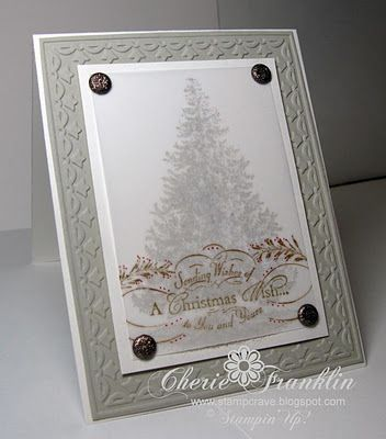 Vellum tree - I would love to make this card!