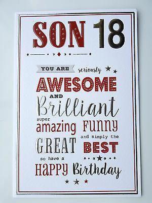 What To Write In Sons Birthday Card : write, birthday, Happy, Birthday, Illustrations,, Sample, Birthda…, 18th,, Cards