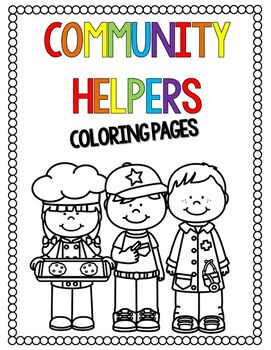 Community Helpers Coloring Pages Distance Learning Community Helpers Helper Community Helper
