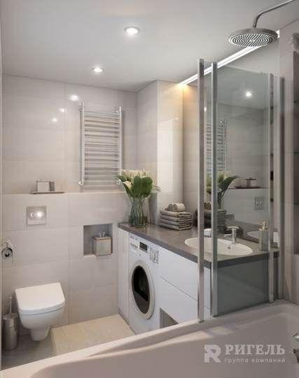24 New Ideas Bath Room Interior Design Washing Machine Small Bathroom Modern Small Bathrooms Small Washing Machine