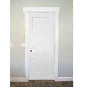 Paneled Solid Manufactured Wood Primed Shaker Standard Door In 2020 Interior Door Styles Shaker Interior Doors Door Design Interior