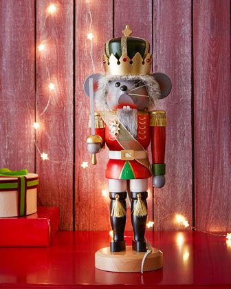 Mouse King Nutcracker by Ulbricht at Neiman Marcus. Retail $225