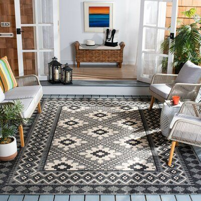 Union Rustic Northpoint Charcoal Indoor Outdoor Area Rug Rug Size Rectangle 2 3 X 6 Area C In 2020 Indoor Outdoor Area Rugs Indoor Outdoor Rugs Rustic Outdoor Rugs