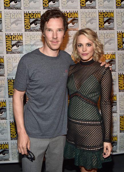 Benedict Cumberbatch and Rachel McAdams attend San Diego Comic-Con.