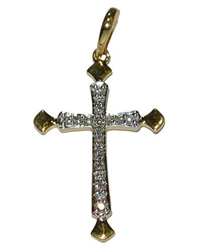 Wellingsale 14K Two 2 Tone Gold Polished Praying Hands Religious Charm Pendant