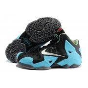 Cheap Lebron 11 Black Sky Blue Grey $107.90 http://www.blackonshoes.