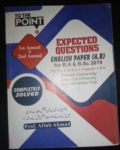 Expected Questions English Paper A B For B A B Sc 2019 English Paper English Grammar Book Grammar Book