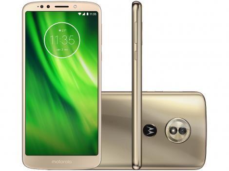Smartphone Motorola Moto G6 Play 32gb Ouro Dual Chip 4g Cam 13mp Selfie 8mp Flash Tela 5 7 Com As Melhor Smartphone Motorola Smartphone Celular Smartphone