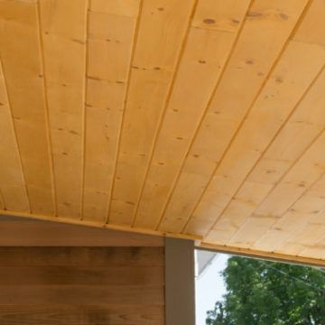 V Groove Pine Ceiling Install A Wooden Porch Ceiling Porch Ceiling Wooden Porch Ceiling Design