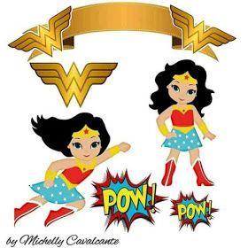 Toppers De La Mujer Maravilla Para Pasteles O Tartas Para Imprimir Gratis Cumpleanos De La Mujer Maravilla Mujer Maravilla Fiesta Mujer Maravilla