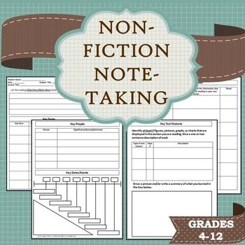 Note-Taking Template for Non-Fiction Texts - note taking template word